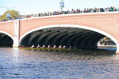 The Flyers navigate under Elliot Bridge at a 34 rating and a 1:40 split.