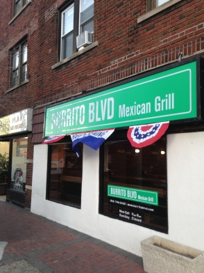 Burrito Blvd's store-front can be found right near the Mineola train station.