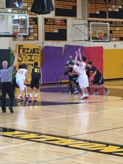Flyers take advantage of a foul shot opportunity.