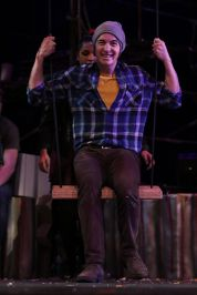 Rob Morr '16 enjoys his time on the set's swing.