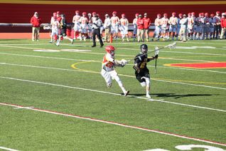 Captain Kyle Thornton '16 defends against St. Anthony's aggressive offense.