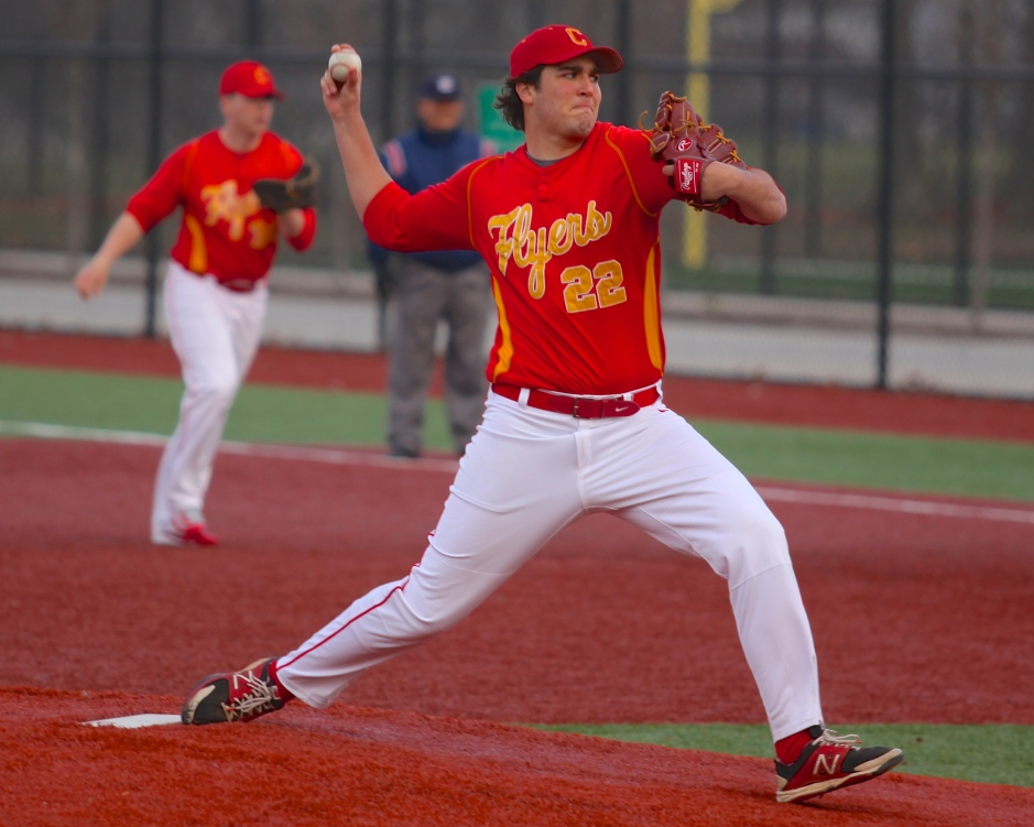 Julien Arcos '16 pitches to a skilled, but ultimately scoreless, St. Anthony's offense.
