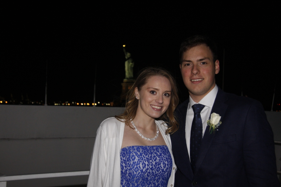 Anthony Sikorski '16 and his date take in sights like the Statue of Liberty on the journey around Manhattan.