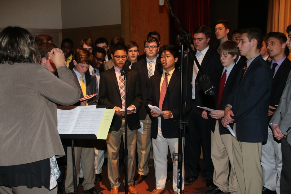 Members of the Glee Club sing at Sodality Prayer Service.