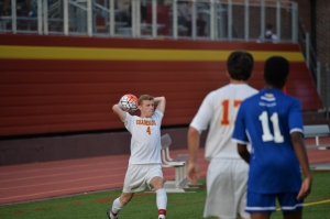 Jack Kenny '17 throws in a ball during the win against the Firebirds.