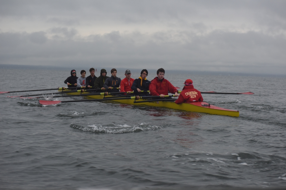 The crew team is on the water in preparation for the Bill Braxton Regatta, the last of the season.