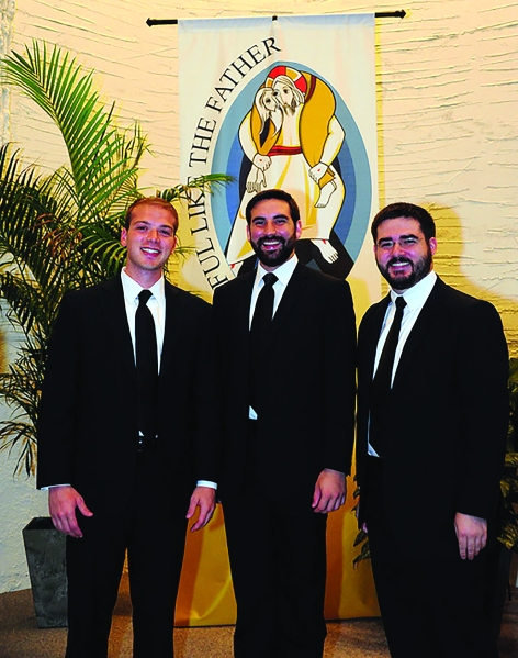 Bro. Patrick, Bro. Peter, and Bro. Andrew took their Marianist vows on July 16, 2016.