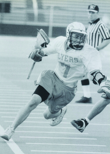 As a senior, Ryan Moran evades a St. Anthony's defender in the championship game. The Flyers won 15-8 to claim the 1999 title.