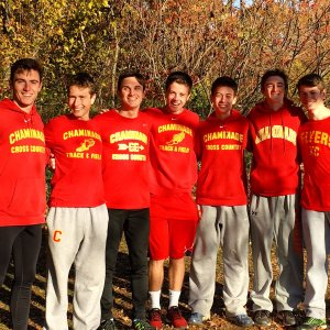 The excited varsity squad was all smiles after their finish.