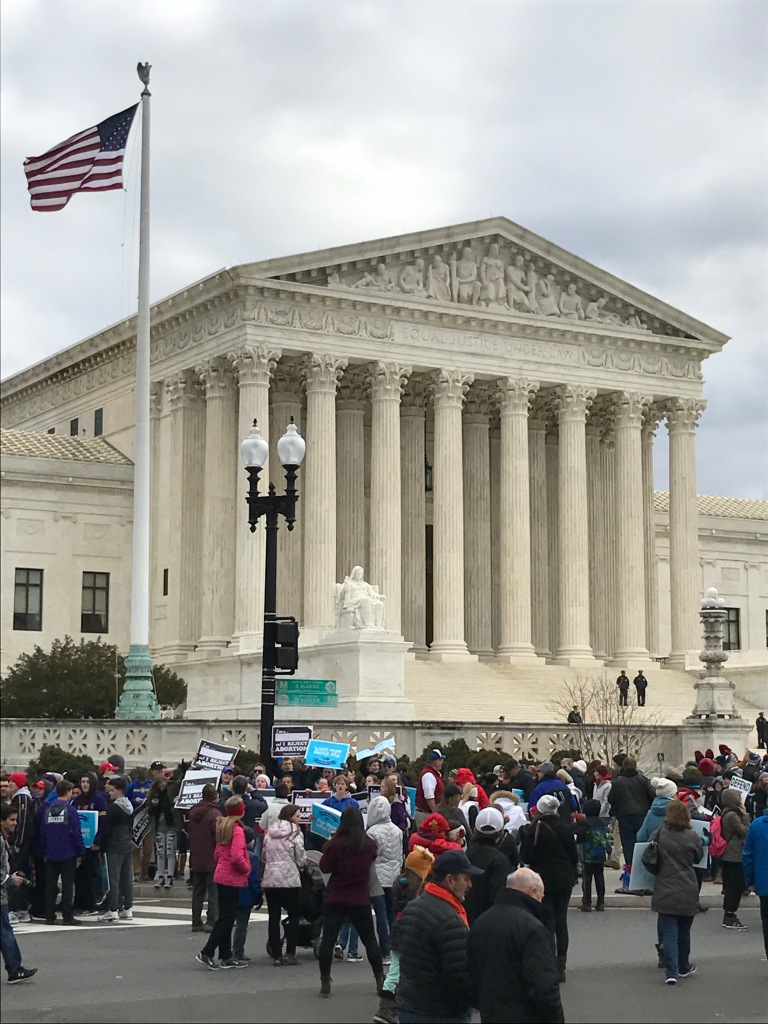 """Equal Justice Under Law"" reads the Supreme Court motto. The Court is now 44 years removed from its landmark Roe v. Wade decision, against which Catholic League members protested on Friday."